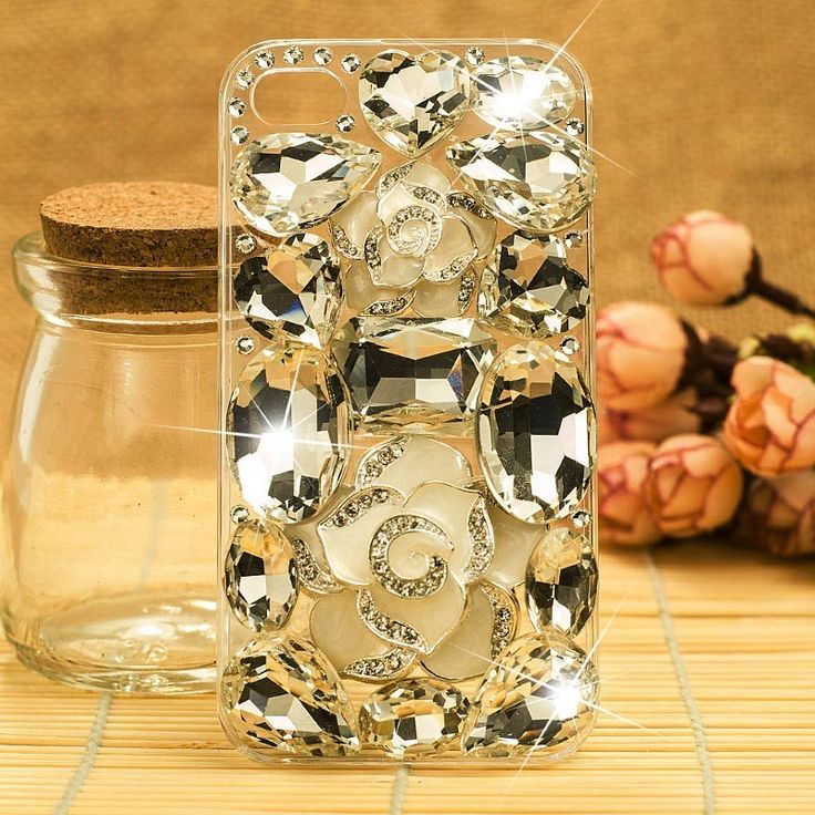 HOT Gorgeous 3D Swarovski Crystal Peacock Case Cover for iPhone 5 - Color 08