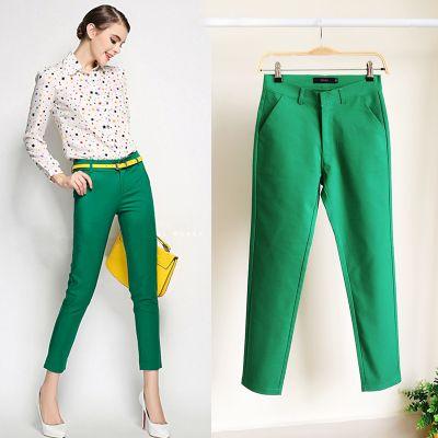 Каждый день специальные толстые ММ большой размер восемьдесят девять штанов дамы летом и летом стрейч хлопка тела Тонкий тонкий случайные небольшие прямые штаны - Taobao