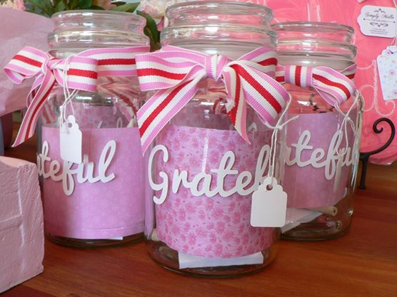Start a new tradition in your home! Our fabulous Grateful Jars contain a notepad and pencil and when the family is together, they are to write down something they are really grateful for! Then store the note in the jar until a special occasion when they are taken out and shared with the family!