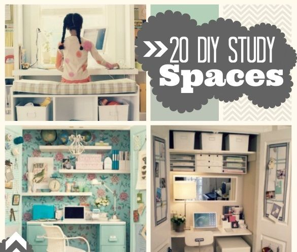 Study Room Decoration Diy: 270 Best Images About DIY Study/Desk Area On Pinterest