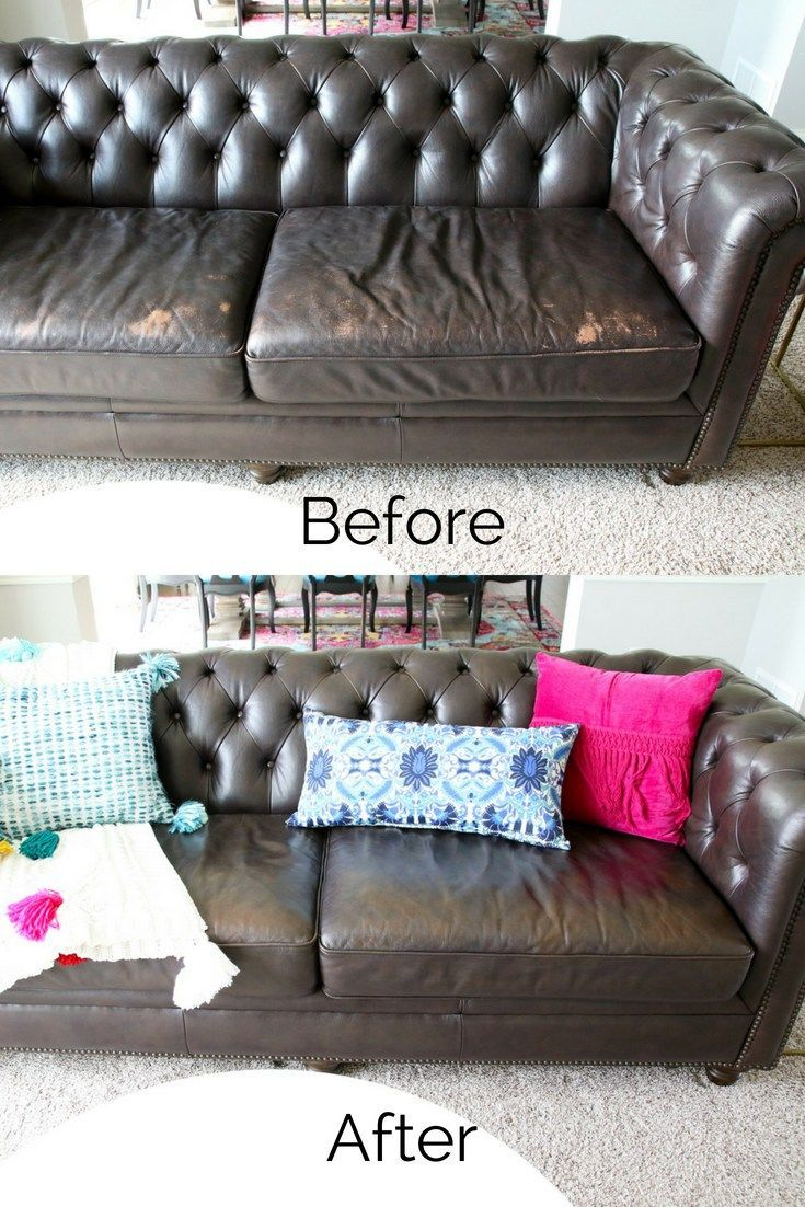 How To Repair A Leather Sofa Bedroom Makeover Before And After