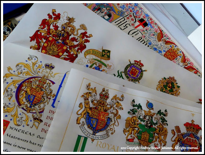 Letters Patents and Illuminated Documents designed and painted by Andrew Stewart Jamieson