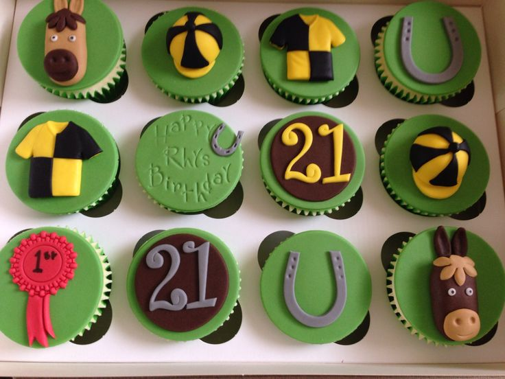 Baby Shower Cupcakes Cardiff : Horse racing Cupcakes I ve made Pinterest Horse ...