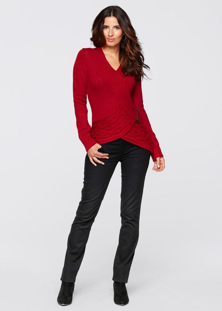 Pullover Rosso scuro - BODYFLIRT boutique è ordinabile nello shop on-line di bonprix.it da ? 26,99. Il capo preferito per i giorni più freddi! Pullover con ...