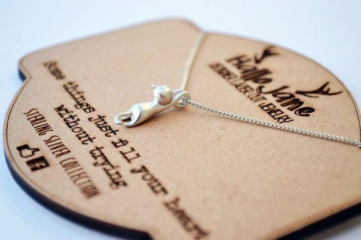Hanging Cat necklace by HALLO JANE