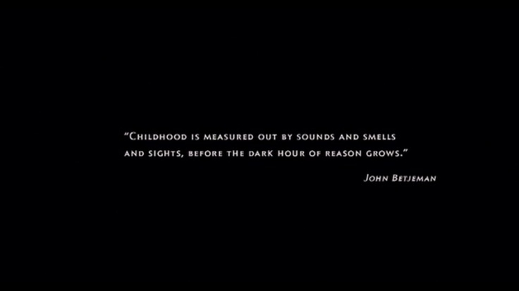 childhood is measured out by sounds and smells