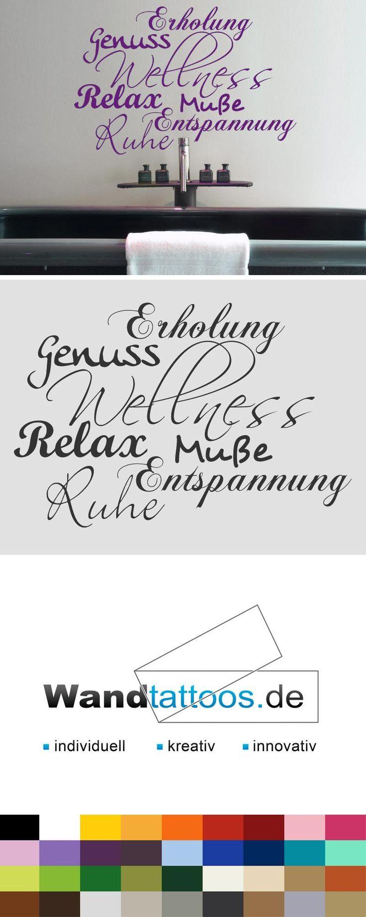 Wandtattoo Wellness pur! als Idee zur individuellen Wandgestaltung. Einfach Lieblingsfarbe und Größe auswählen. Weitere kreative Anregungen von Wandtattoos.de hier entdecken!