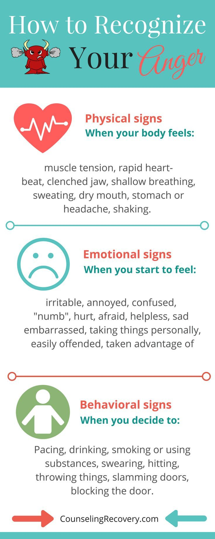 a35bda1c5f4ca54d195af838ff7745c9--anger-control-how-to-control-emotions Psychology Infographic : Knowing your early warning signs of anger can prevent heated arguments and poten...