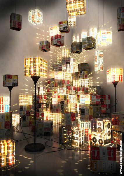 LÁMPARA CASSETTE  de OOO My Design por DaWanda.com