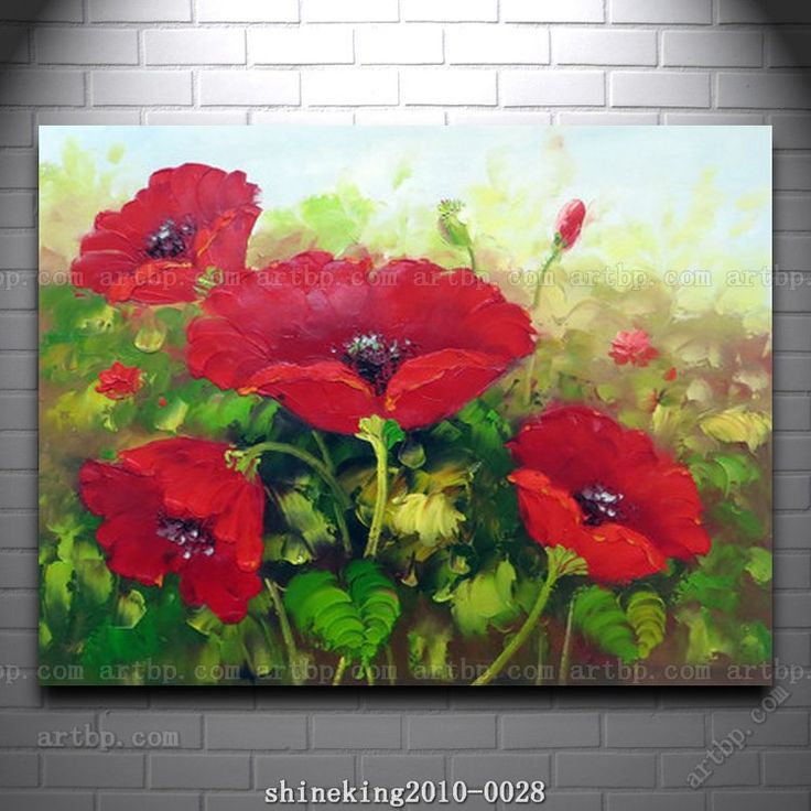 Pas cher Belle huile de fleur de la peinture moderne toile