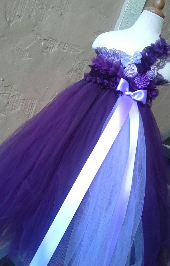 Plum Flower girl dress Lace plum flower girl by GlitterMeBaby, $75.00
