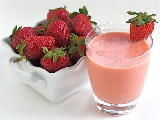 strawberry mango smoothie     ingredients:  1 cup sliced strawberries  1 cup peeled, pitted, and chopped mango  6 ounces plain Greek yogurt (or 1 container store bought yogurt)  6-8 ice cubes    directions:  Place strawberries, mango, and yogurt in a blender. Blend on high for 30 seconds. Add in the ice cubes and blend until smooth. Pour smoothie into glasses and serve.    *Note-if you like a thinner smoothie, you can add fruit juice, milk, or water.