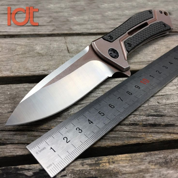 LDT 0801 CF Ball Bearing Folding Knife D2 Blade Steel Carbon Fiber Handle Knife Camping Hunting Survival Knives Outdoor EDC Tool salmon fishing * AliExpress Affiliate's Pin. Detailed information can be found by clicking on the image