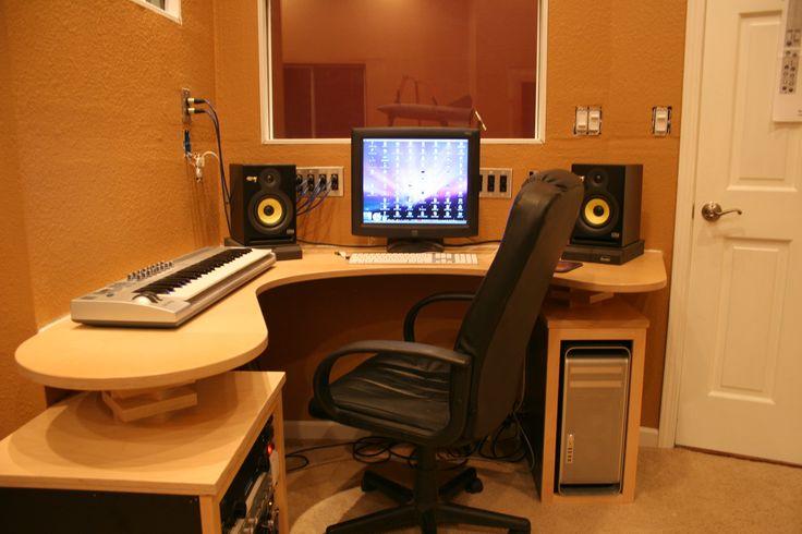Simple Bedroom Recording Studio small recording studio desk | design ideas 2017-2018 | pinterest