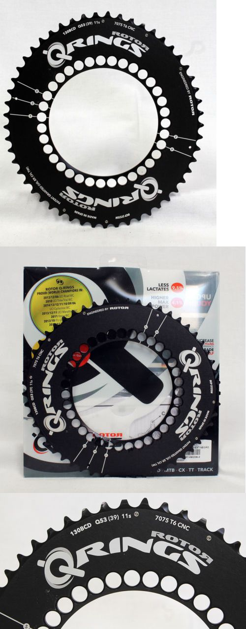 Chainrings and BMX Sprockets 177811: Rotor Q-Ring 53At Bcd130x5 Black Outer Bike/Cycling Chainring -> BUY IT NOW ONLY: $150 on eBay!