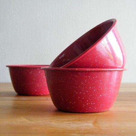 Red Enamel PUDDING BASIN $9.50