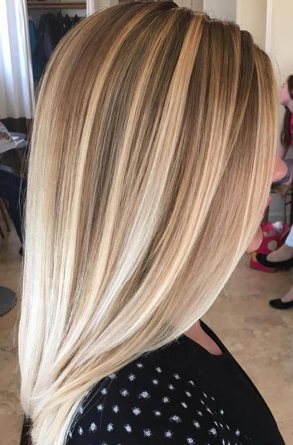Can T Wait To Try This Impressive Blonde Caramel Balayage For Straight Hair Ombrehairstraight Straight Hairstyles Straight Blonde Hair Blonde Bayalage Hair