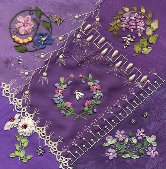 embroidery crazy quilt | Crazy Quilting ~ / I crazy quilting & ribbon embroidery ...