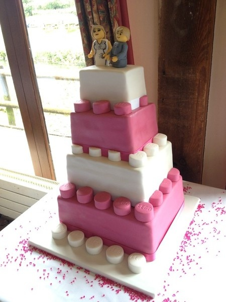 Lego wedding cake. by Cotswold Finest Cakes. I would love this in purple and yellow for our wedding