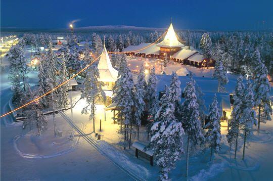 Le village du Père Noël, Rovaniemi, Laponie finlandaise...
