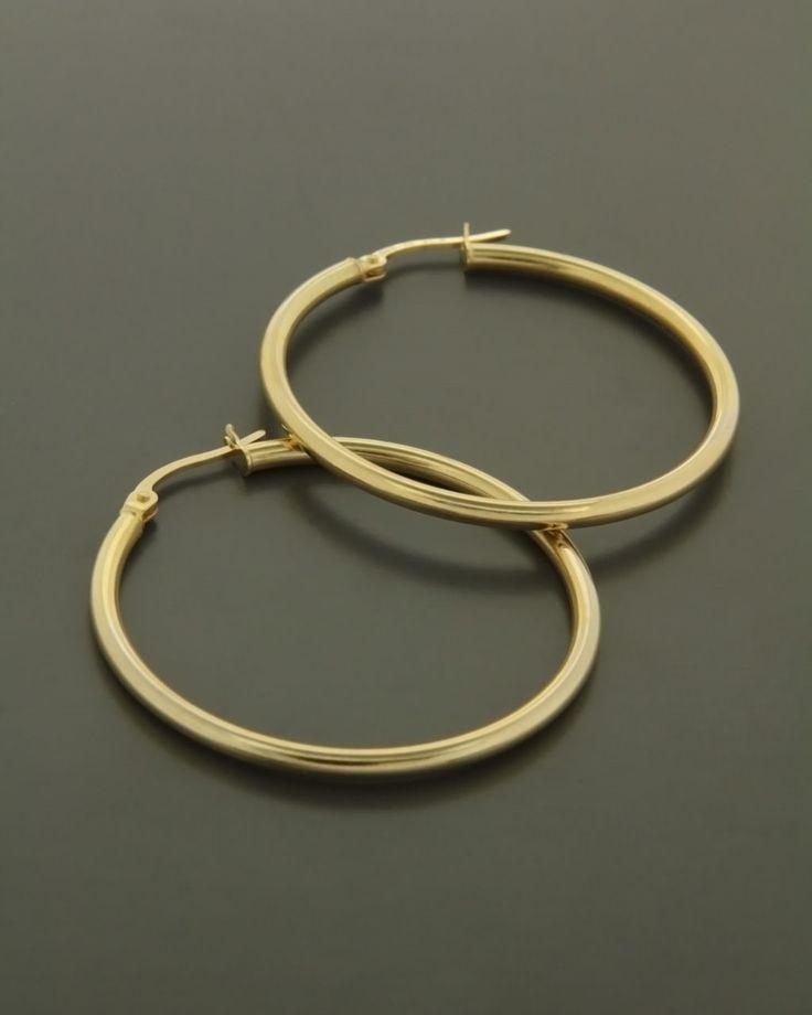 Σκουλαρίκια κρίκοι χρυσοί Κ9