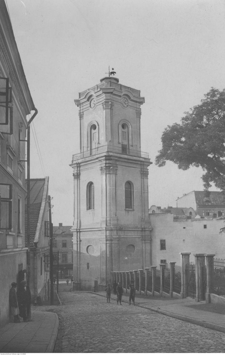Wieża zegarowa.Data wydarzenia: 1918 - 1939. Autor: Morawetz Oskar.
