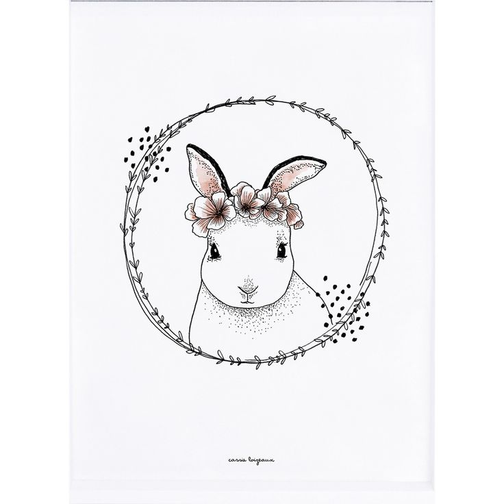 Affiche Lapin (30 x 40 cm) - Lilipinso and Co