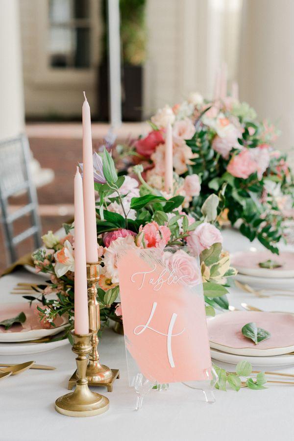 Blush and greenery modern elegant wedding table decor: http://www.stylemepretty.com/2017/05/26/philadelphia-waterworks-bridal-inspiration/ Photography: Rachel Pearlman - http://rachelpearlmanphotography.com/#!/home