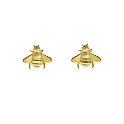 Bees - gold plated studs