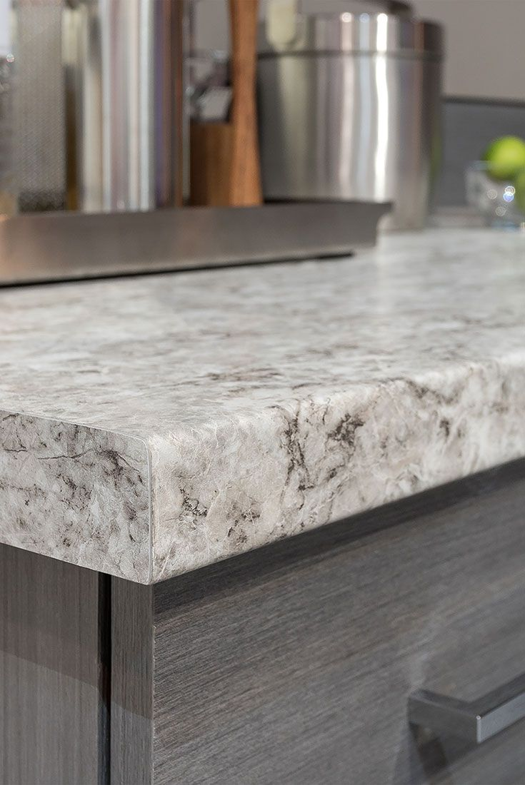 Postformed Countertops Are Ced With Matching Solicor Laminate To Eliminate The Brown Line