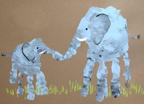 elephant handprint craft - Yahoo Search Results