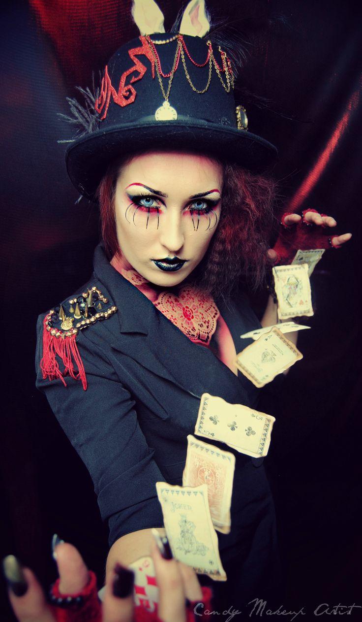 Magician card trick... #Circus #makeup and #styling!