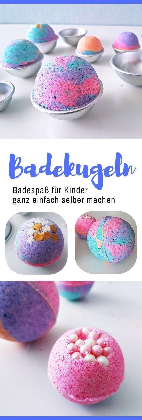 DIY Anleitung: Sprudelnde bunte Badekugeln für Kinder herstellen