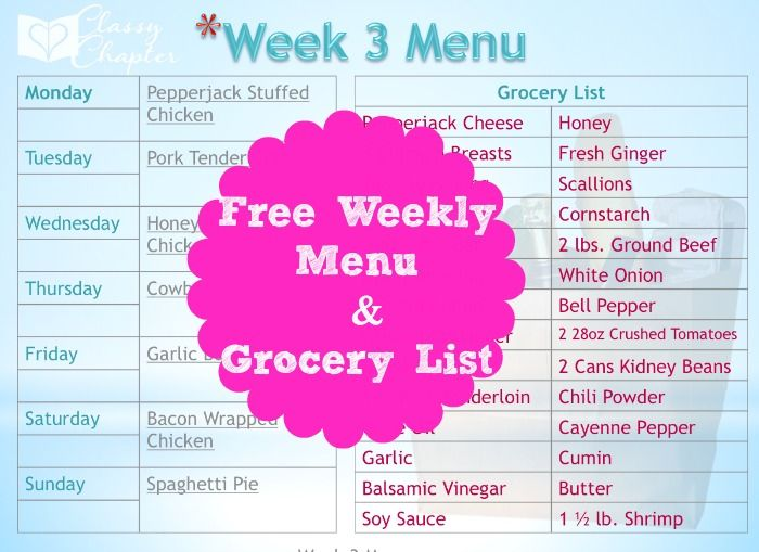 Best  Menu List Ideas On   Heathly Grocery List
