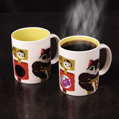 The Kitty Condo Magic Mug: Kitty's eyes open when you give her hot coffee, just like me. From @Amy Arnold Go