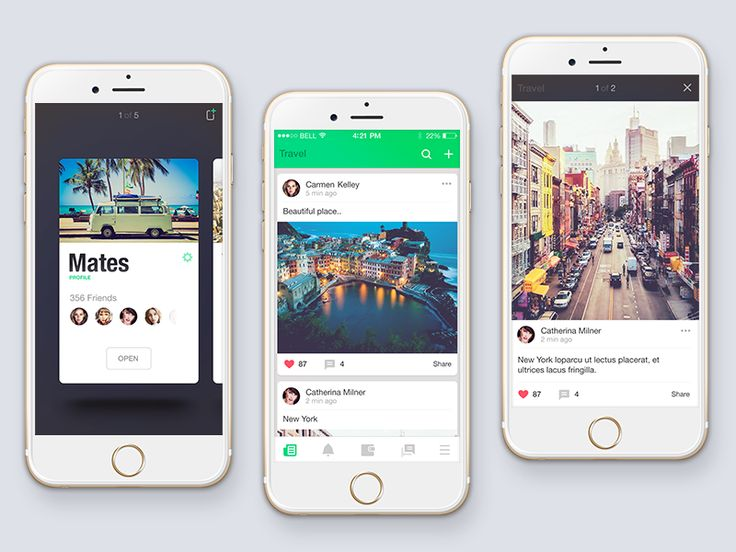 Social app by Stano Bagin for PLATFORM
