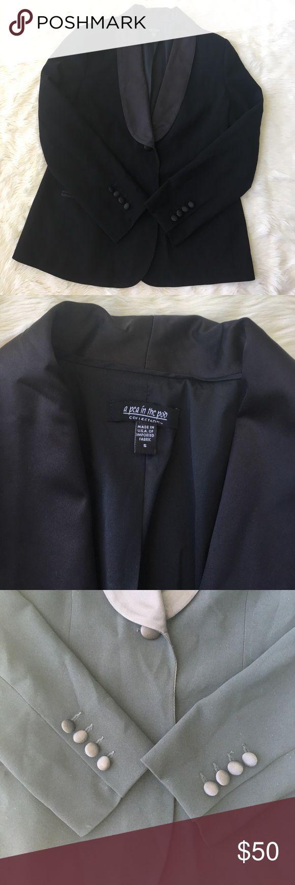A Pea in the pod maternity black blazer Size small black maternity blazer. Excellent condition. Small spot on lapel as photod. A Pea in the Pod Jackets & Coats Blazers