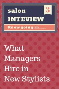 Best Hairstylist Interviewing Tips Images On   Career