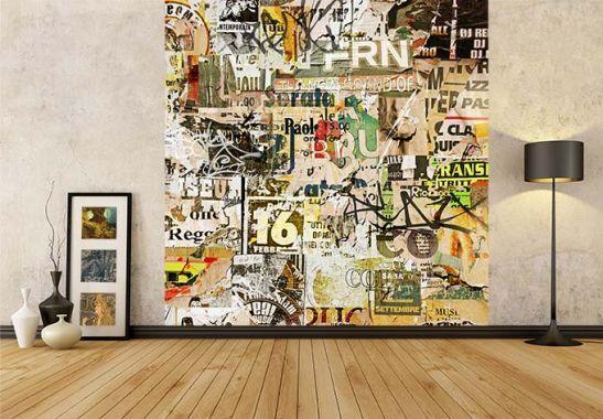 Fototapete Abgerissene Poster von K&L Wall Art | wall-art.de