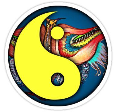 Yin-Yang Sticker 03 by StickerNuts