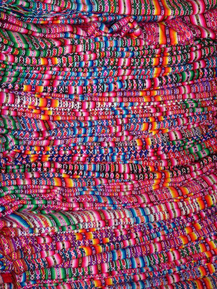 Colourful textile, Peru.