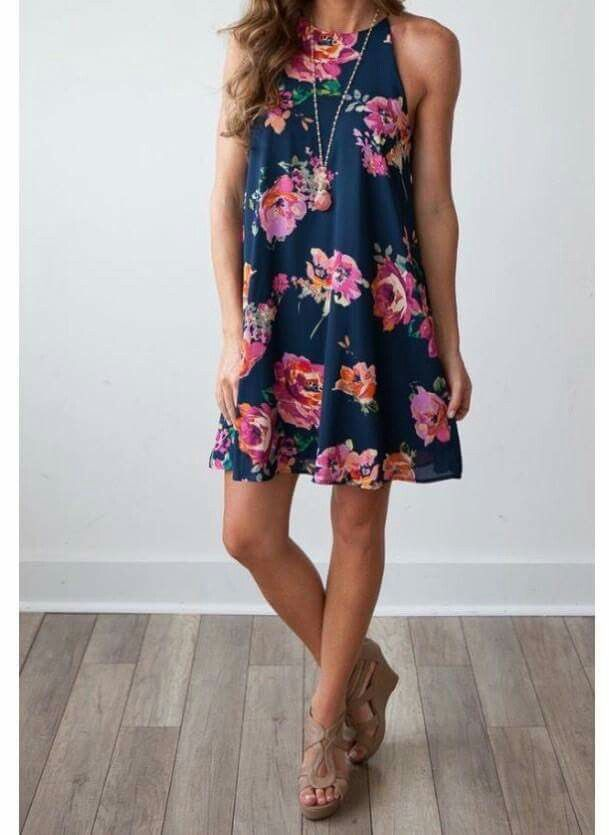 Everly Isolde dress. This is a great intro to floral for me because it's a dress shape that I already know works for me.
