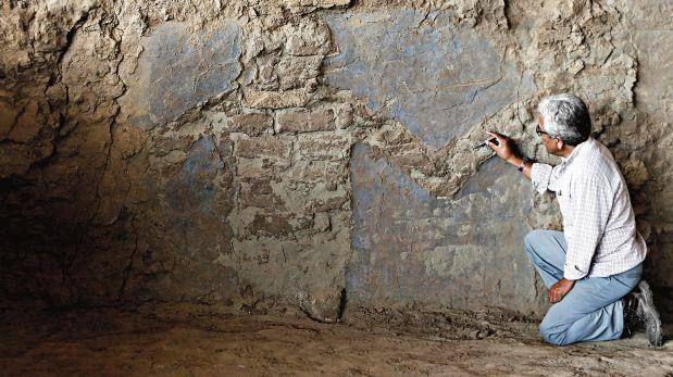 En Perú Descubren Muro Con Frisos De Figuras Humanas De 1.500 Años