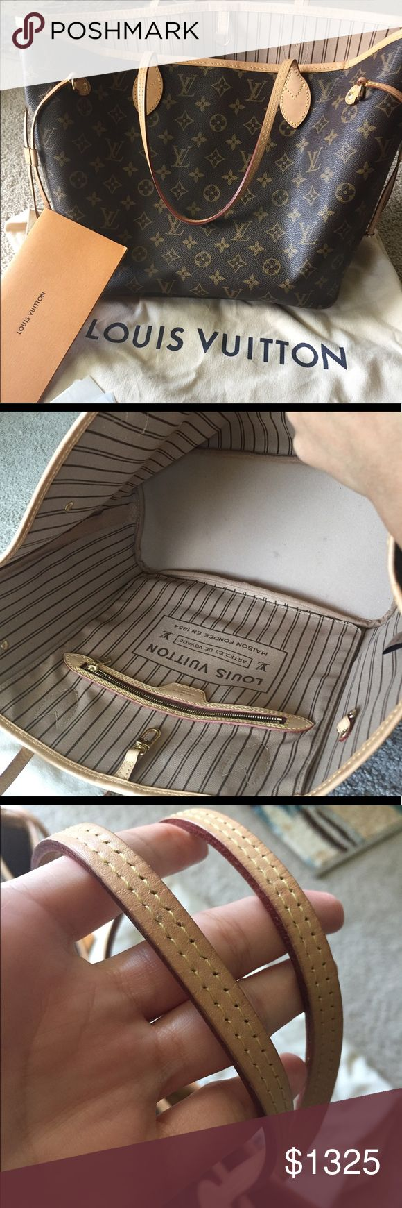 💕Louis Vuitton MM💕 💕authentic Luis Vuitton  bag 💕date code SD 3156 💕comes with dust bag and paperwork 💕used probably twice (my wallet got lost in it )🙈💕I bought it for myself but it's definitely too big for my lifestyle 🌸🔴no trades 🔴no worries it will go first to posh concierge 😘thanks Louis Vuitton Bags Totes