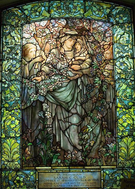Arlington Unitarian Church in Boston City - Tiffany stained glass windows