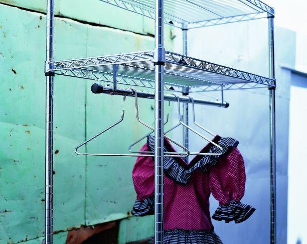 Estanteria modular metro para colgar ropa estanter a for Estanteria colgar pared