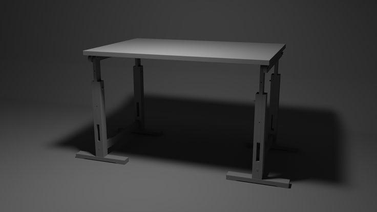 Working desk. Modeled in Maya, rendered in Arnold