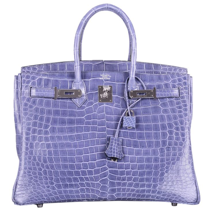 MAGICAL \u0026amp; ONLY ON JF HERMES BIRKIN BAG 35cm BLUE BRIGHTON PORO PHW ...