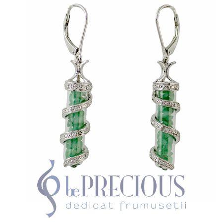 Cercei cu Smaralde si Diamante Sublime