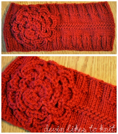A Simple Headband/Ear-Warmer (Knit Pattern).  This is my favorite and easiest to knit up fast